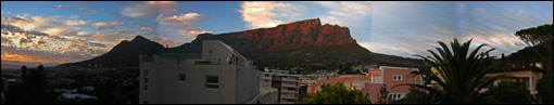 panorama of Table Mountain