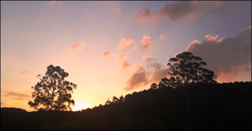 Sunset after the solstice